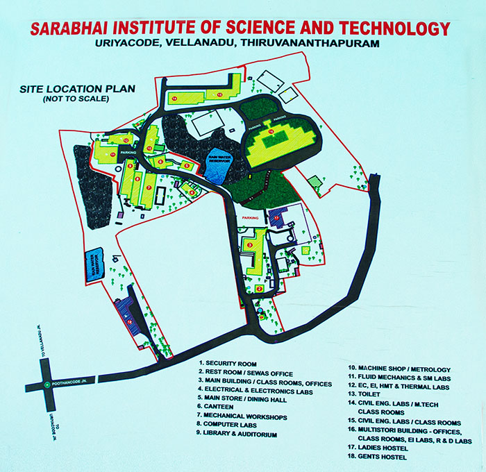 SIST CAMPUS MAP