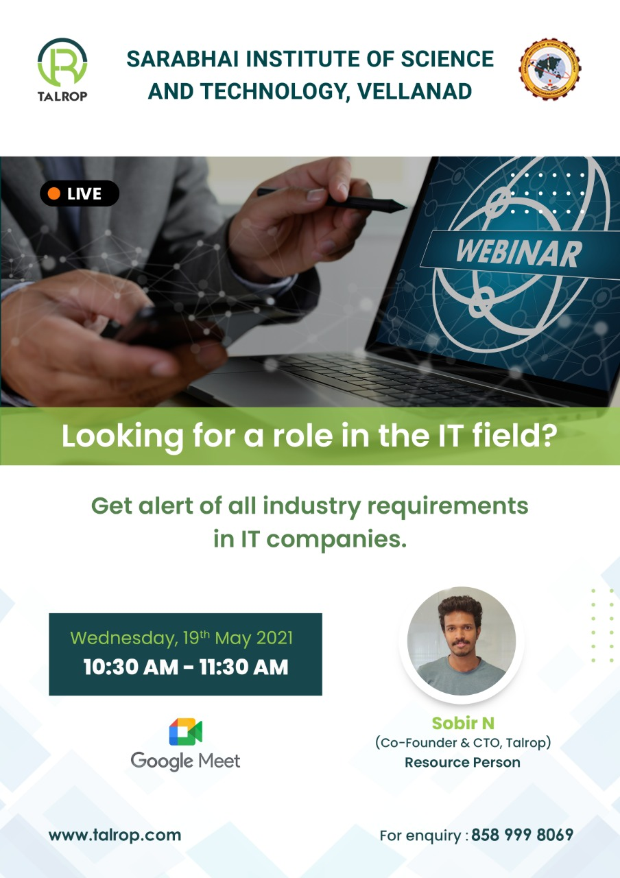 Webinar on Industry requirements in IT Companies