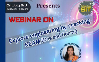 Webinar – Explore Engineering by cracking KEAM