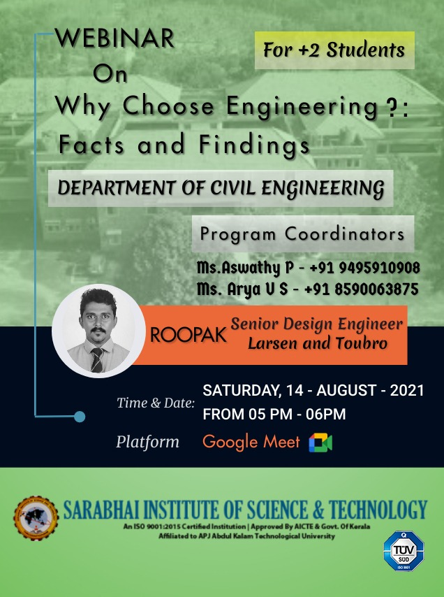"""Webinar on  """" WHY CHOOSE ENGINEERING? : FACTS AND FINDINGS"""""""